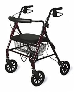 Medline Bariatric Rollator Walker/Seat 400 lb Capacity