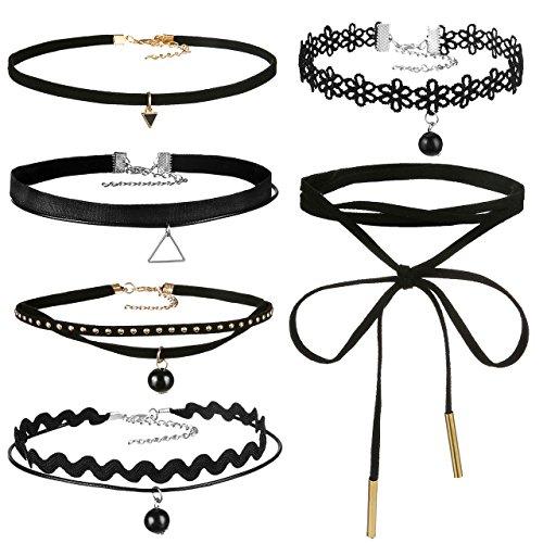 areke-leather-chain-choker-necklace-for-women-girls-gothic-tassel-velvet-necklaces-adjustable-set-st