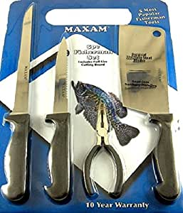 Angler 5 pc fish cleaning kit with cutting for Fish cleaning kit