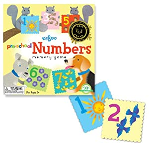 eeboo Pre-School NUMBERS MEMORY GAME