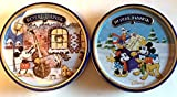 Royal Dansk Butter & Chocolate Chip Cookies 9oz Tin - Disney Mickey Mouse 2014 Limited Edition 2 Pack Bundle Mickey's Good Deed & Pie Eyed Mickey