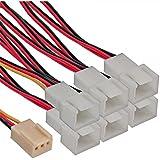 InLine Lüfter Adapterkabel - 3pol Molex Buchse an 6x 3pol Molex Stecker, 33436