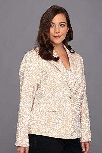 Anne Klein Women's Leopard Jacquard Jacket ланч бокс joseph joseph goeat grey 81032