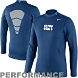 Nike Indianapolis Colts Hyperwarm Long Sleeve Mock Turtleneck T-Shirt - Royal Blue Amazon.com