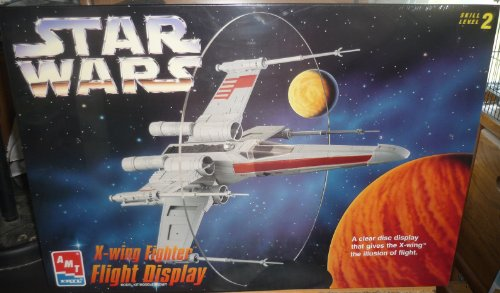#8788 AMT Star Wars X-Wing Fighter Flight Display Model Kit,Needs Assembly