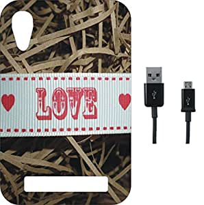 BKDT Marketing Printed back Cover for Xperia T2 with Charging Cable