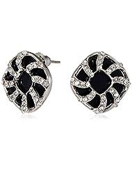Jewelz Stud Earings For Women (Black) (EAR-8290)