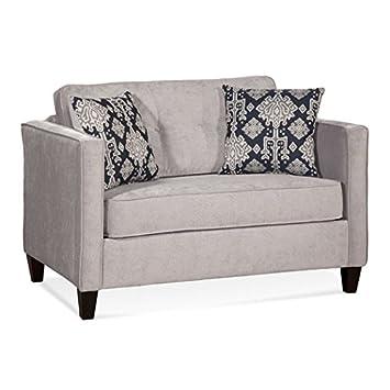 Modern Style Wood Reversible Cushions Hardwood Frames Certi-pur Foam Durable Fabrics Sleeper Loveseat - Made in the USA -