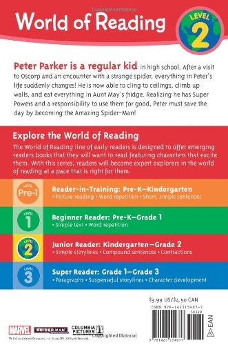 Becoming Spider-Man: Level 2 (World of Reading Marvel Cinematic)