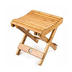 New Arrival - HOKIPO Multifunctional Foldable Bamboo Shower Stool Seat for Kids