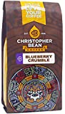 Christopher Bean Coffee Flavored Whole Bean Coffee, Blueberry Crumble, 12 Ounce