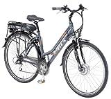 Alu-REX Damen Trekking Elektrofahrrad 36 Volt, 21 Gang Kettenschaltung, dunkelgrau, Rahmengröße: 50 cm, Reifengröße: 28 Zoll (71,1 cm)