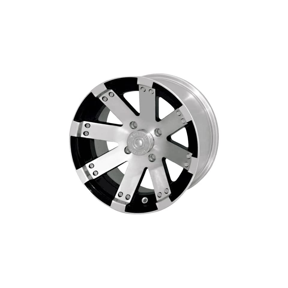 Vision Wheel Buckshot 158 Gloss Black Wheel with Machined Face (12x7/4x110mm)