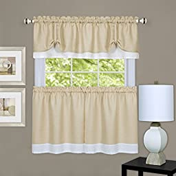 Achim Home Furnishings Darcy Tier Pair, 58 by 36\