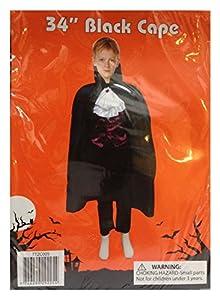 Neu Kinder 89cm lang Vampir Dracula Umhang Mantel Kostüm Halloween Jungen Mädchen Kostüm Party Karnevall Horror