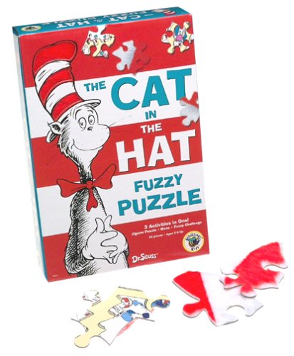 Dr. Seuss Fuzzy Puzzle -- The Cat in the Hat
