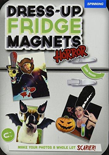 Spinning Hat Dress Up Fridge Magnets, Horror
