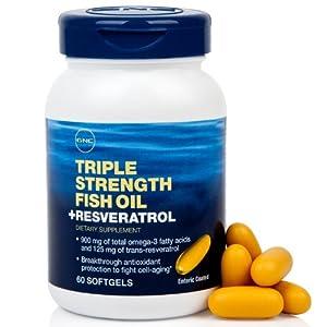 Gnc 3x fish oil plus resveratrol 60 cap for Gnc fish oil