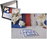 Photo Jigsaw Puzzle of Popcorn bowl with movie tickets