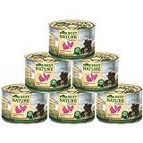 Dehner Best Nature Katzenfutter Kitten Geflügelherzen mit Reis, 6 x 200 g (1.2 kg)