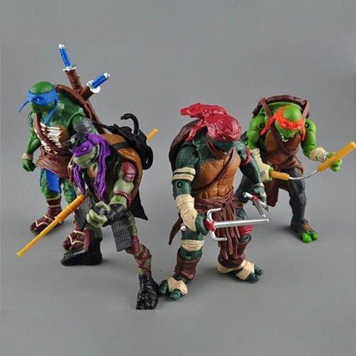 """Hot Teenage Mutant Ninja Turtles Movie 5"""" Action Figure 4pcs/Lot Toys TMNT"""