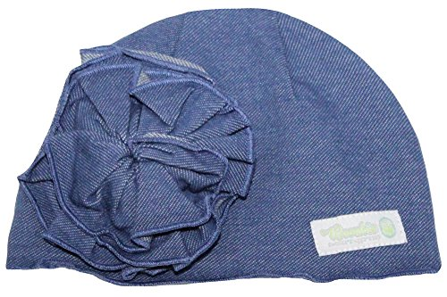 Woombie Cotton Flower Hats, Denim Flower Hat, 0-6m - 1