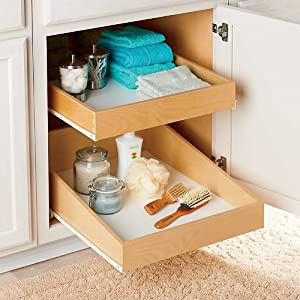 "Roll-Out Shelf - Double Deep - 18"", 20"" or 22"" - 22""W - Improvements"