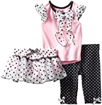 Nannette Baby Girls 3 Piece Cardigan Set with Creeper Pant