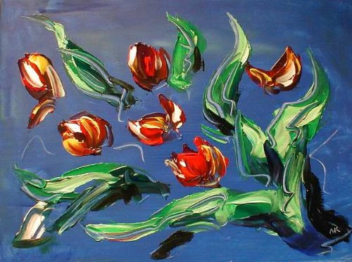 Mark Kazav - Superb Russian Original Oil Painting On Canvas Textured Modern Abstract Impressionist Art Deco