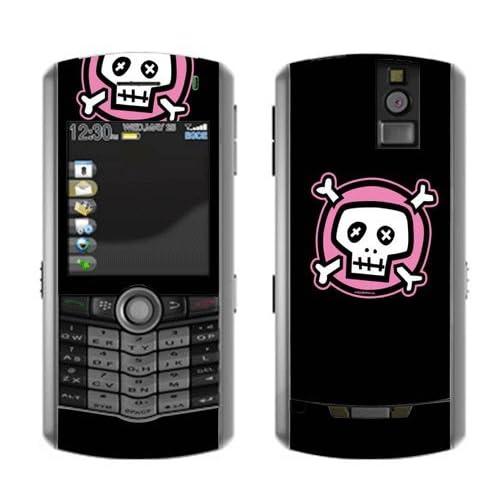 Pink Crossbones Decorative Skin Decal Cover Sticker for BlackBerry RIM Pearl 8100 8110 w/ VERTICAL CAMERA