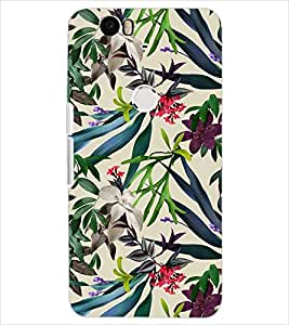 PrintDhaba LEAF PATTERN D-6849 Back Case Cover for HUAWEI NEXUS 6P (Multi-Coloured)