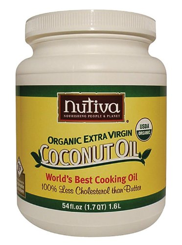 Nutiva Organic Extra Virgin Coconut Oil, 54-Ounce Jar