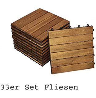 sam set holzfliesen 02 balkonfliese 11 st ck akazie. Black Bedroom Furniture Sets. Home Design Ideas