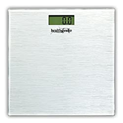 Healthgenie Digital Weighing Scale HD-221 Silver Brushed Metalic ( latest collection ) ...
