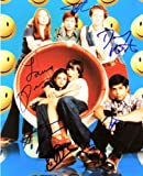 That 70s Show - Cast Signed 8x10 Color Photo - Signed By: Ashton Kutcher / Topher Grace / Laura Prepon / Danny Masterson / Wilmer Valderrama / Mila Kunis - Signed in Blue - Rare - Collectible