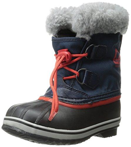 Sorel YOOT PAC NYLON - Stivaletti da neve a gamba corta, imbottitura pesante per bambini, Blu (Blau (Collegiate Navy, Sail Red 464)), 35