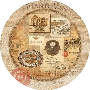 Nostalgic Wine Labels Sandstone Thirstystone Coasters