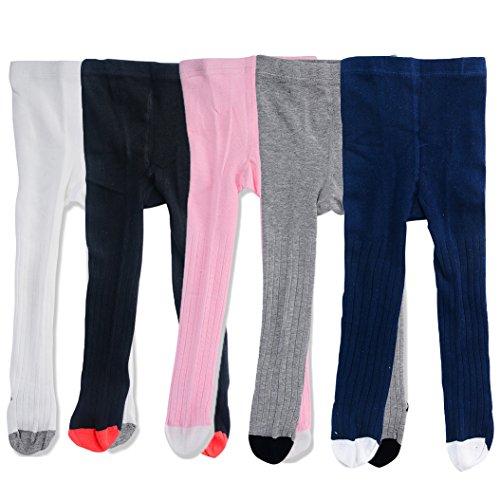 Baby Child Girl Fashion Cotton Stocks Leggings Tights Warm Stockings, 5pcs#1, M (1-2 Years)