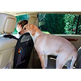 Vehicle Pet Travel Barrier by Pet Travel Supplies - Scratch Resistant and Durable Car Back Seat Screen - Prevents Dog Access to the Front Seats - Fits Most Cars, SUV and Trucks with Headrest - Folds Easily for Storage