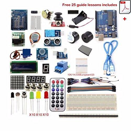 Universal Ultimate UNO R3 Starter Kit for 100% Arduino-Compatible, UNO R3 Board Includes (Wifi Remote Starter compare prices)