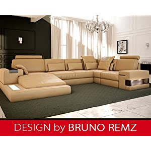 kaufen bruno remz augsburg leder sofa ledersofa ecksofa wohnlandschaft ledercouch eckcouch. Black Bedroom Furniture Sets. Home Design Ideas