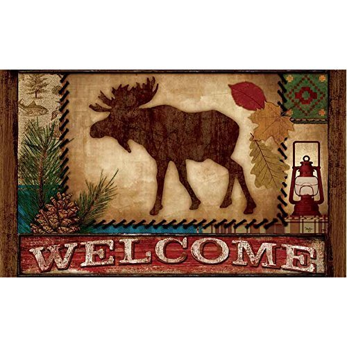 Custom Décor Welcome Moose Doormat