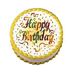 Edible Image Happy Birthday Ribbons