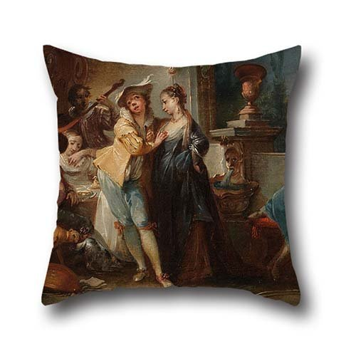 20 X 20 Inch / 50 By 50 Cm Oil Painting Johann Wolfgang Baumgartner - The Prodigal Son Living With Harlots Pillow Cases,two Sides Is Fit For Teens,valentine,dance Room,wedding,drawing Room