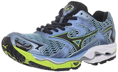 Mizuno Women's Wave Nirvana 8 Running Shoe,Heritage Blue/Anthracite/Lime Punch,6 B US