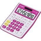 CASIO カラフルミニジャストタイプ電卓 MW-C10A-RD-N 10桁 (エコ仕様 00キー/桁落しキー追加 表示保護パネル追加)