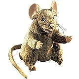 Folkmanis - Marioneta de ratón de peluche (20 cm), color blanco