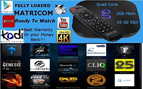 Ready to Watch Matricom G-Box Q Quad/Octo Core XBMC/Kodi Android TV Box [2GB/16GB/4K] (REV 1.3)