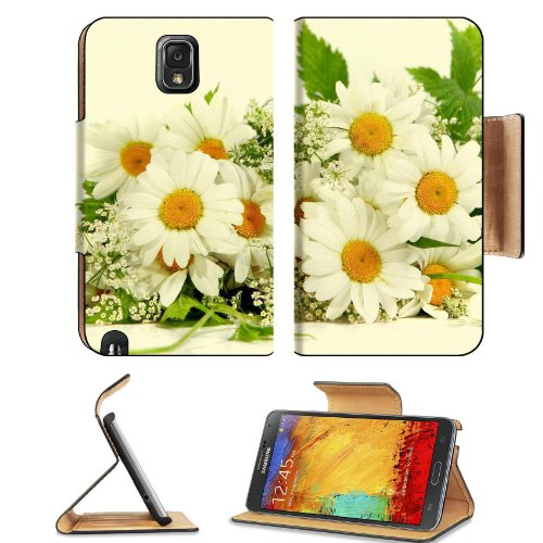 Bouquet White Daisies Baby'S Breath Flowers Cute Small Pretty Samsung Galaxy Note 3 N9000 Flip Case Stand Magnetic Cover Open Ports Customized Made To Order Support Ready Premium Deluxe Pu Leather 5 15/16 Inch (150Mm) X 3 1/2 Inch (89Mm) X 9/16 Inch (14Mm front-623383