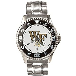 Wake Forest Demon Deacons Suntime Competitor Game Day Steel Band Watch - NCAA College... by Sun Time/Links Warner